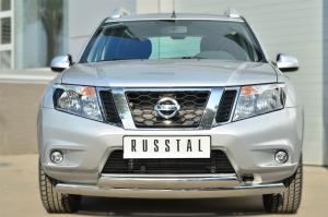 Nissan Terrano 2014-  Защита переднего бампера d75х42 (дуга) d75х42 (дуга) NTRZ-001785